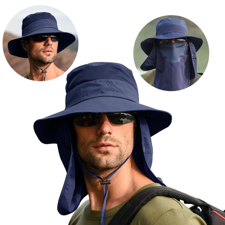 Fishing Fisherman Bucket Cap Neck Face For Men