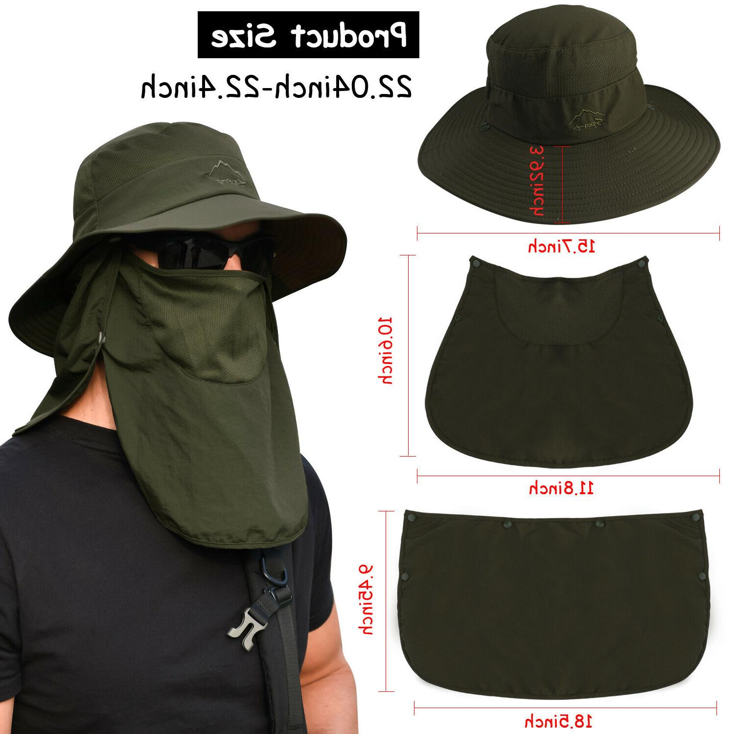 Fishing Cap Sun Neck Cover Face Flap For
