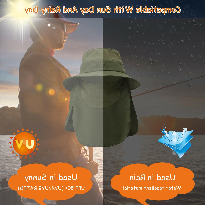 Fishing Fisherman Hat Cap UV Neck Cover Face Flap For Men