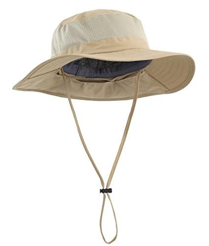 Home Mens Hat with Neck UPF Hat for Outdoor Hunting Gardening Khaki