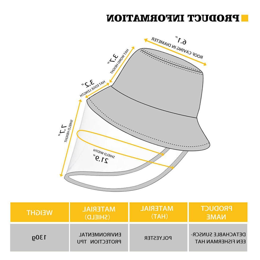 Butterfly Bucket Hat Women Face Shield Cover Cap
