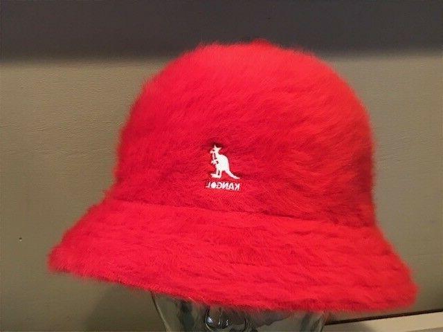furgora casual red old school bucket fuzzy