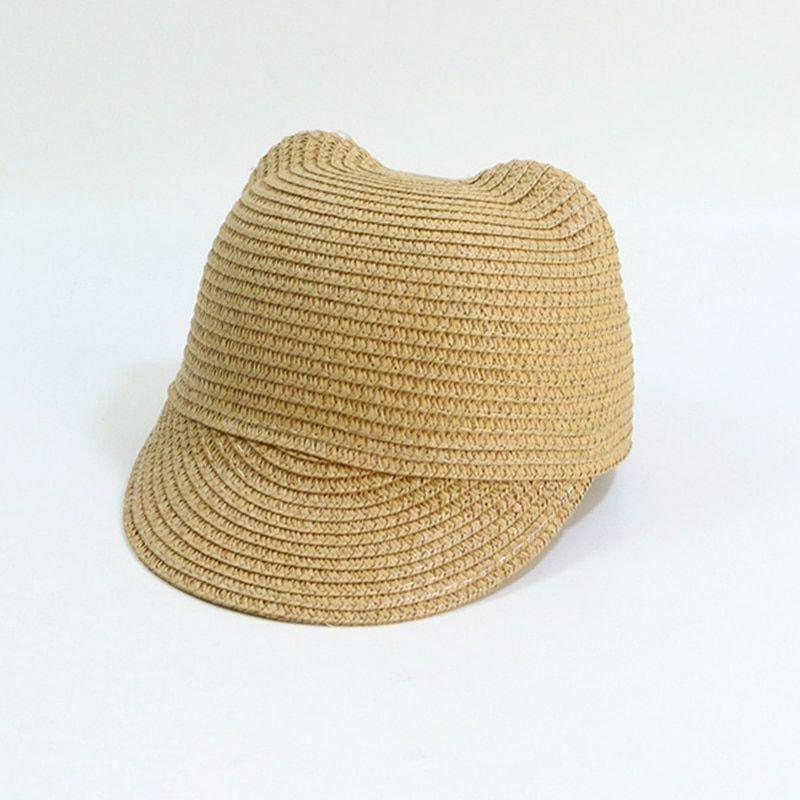 Girls Boys Baby Sun Hat Bucket Cap Beach Straw