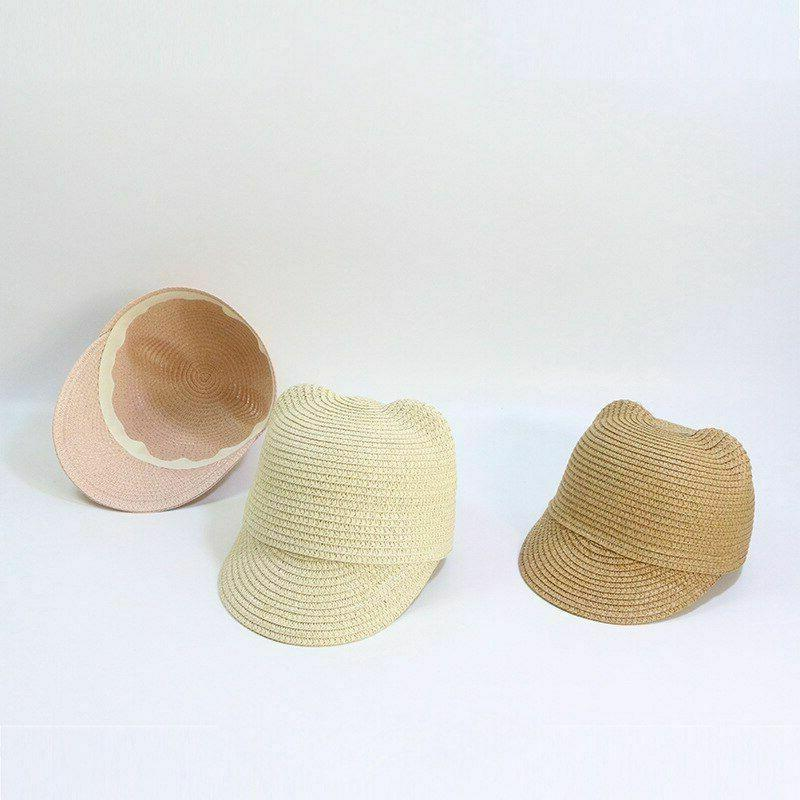 Girls Cute Sun Hat Beach Straw Hats Children Summer