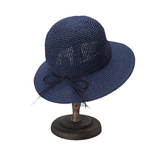 hat lady elegant bow fisherman hat visor
