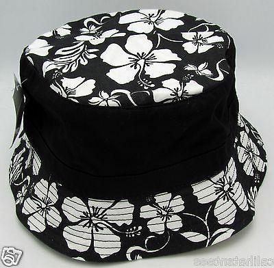 hawaiian floral bucket hat boonie fishing cap