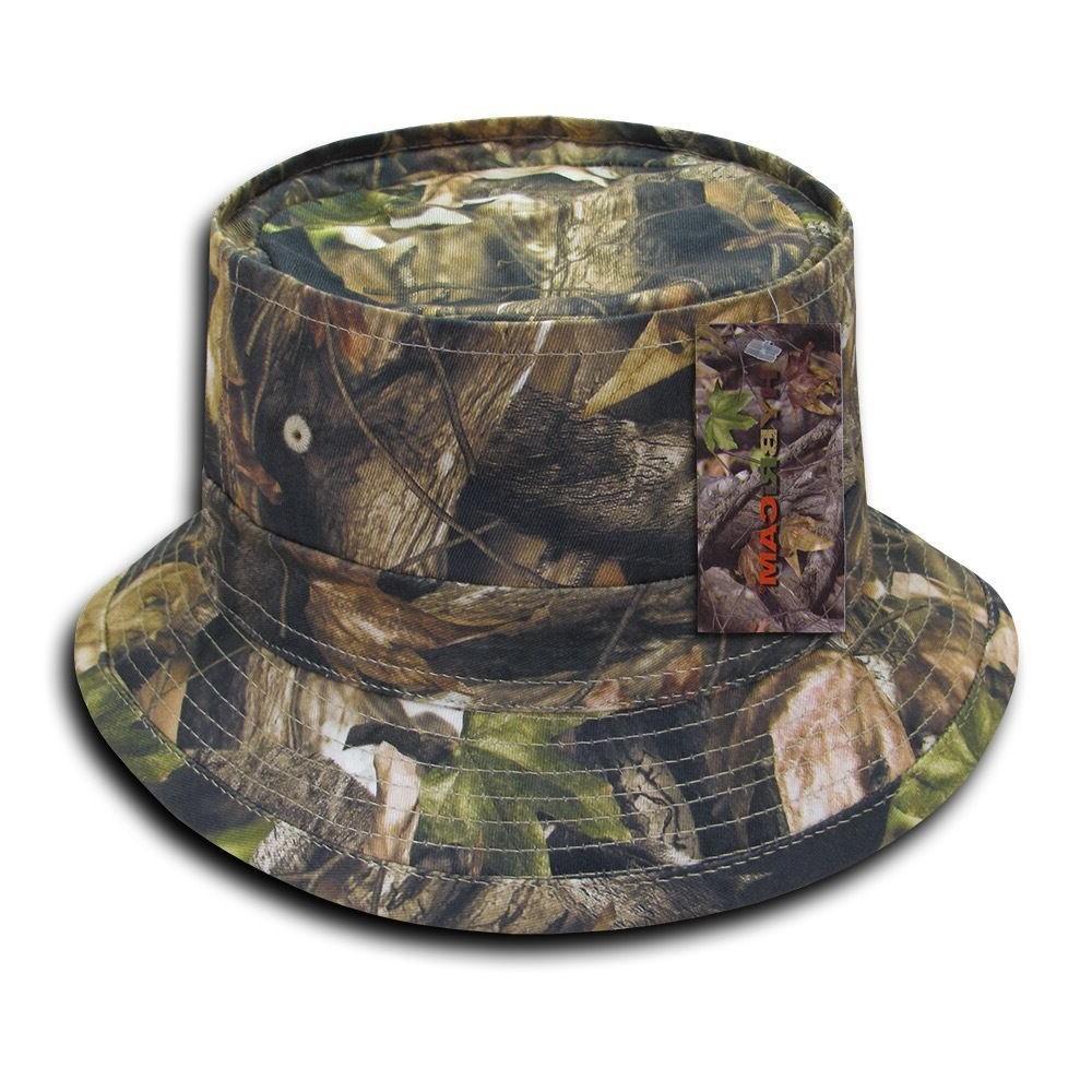 hybricam camo cotton hunting army fisherman bucket