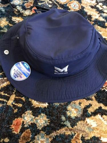 Hydro Active 1 Hat-Unisex Polyester Navy Bucket Hat