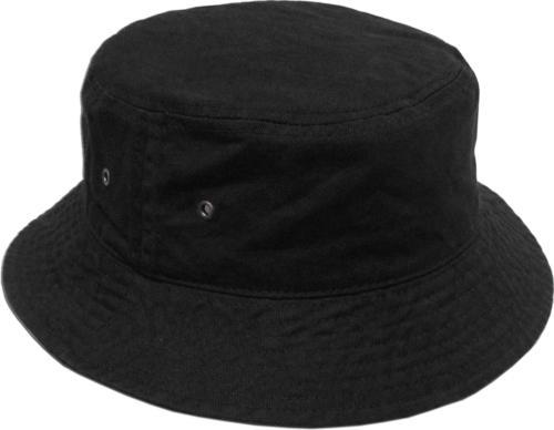 KBETHOS KB-BUCKET1 BLK Unisex 100% Washed Cotton Bucket Hat