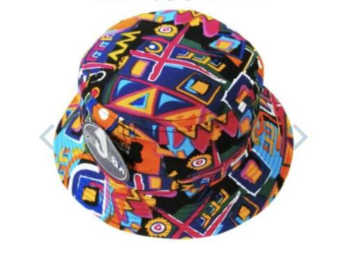 kbethos black white paisley print bucket hat