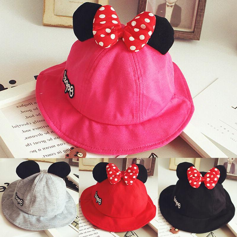Kids Boys Girls Mickey Minnie Caps