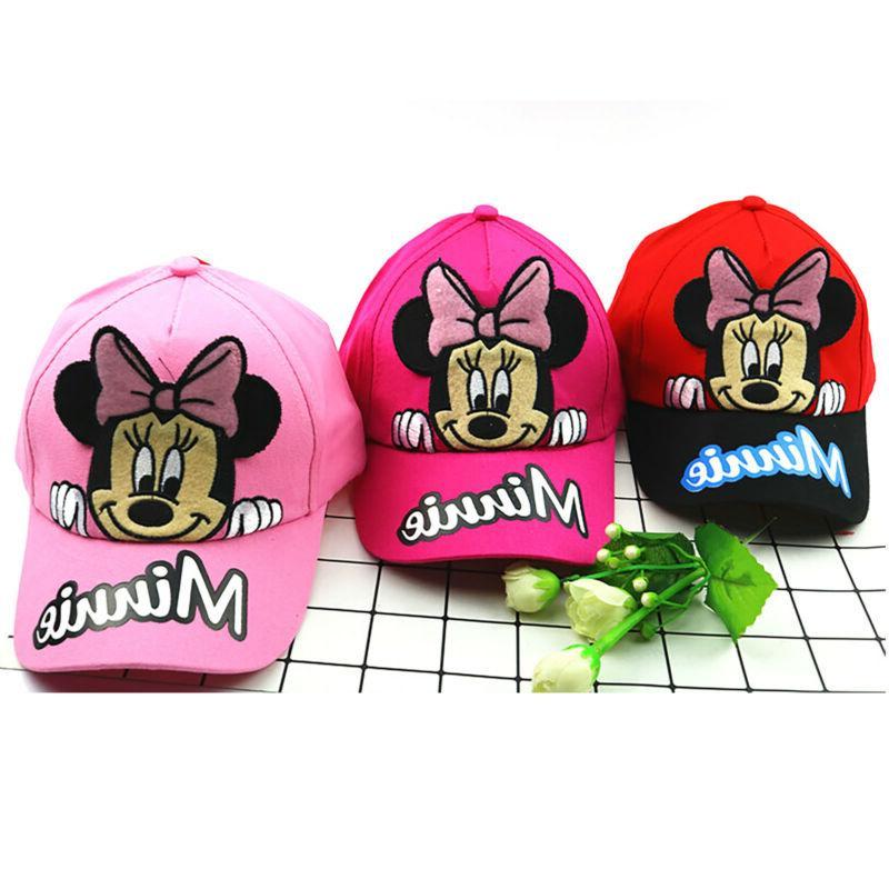 Kids Minnie Caps Hip Hop Snapback Sun