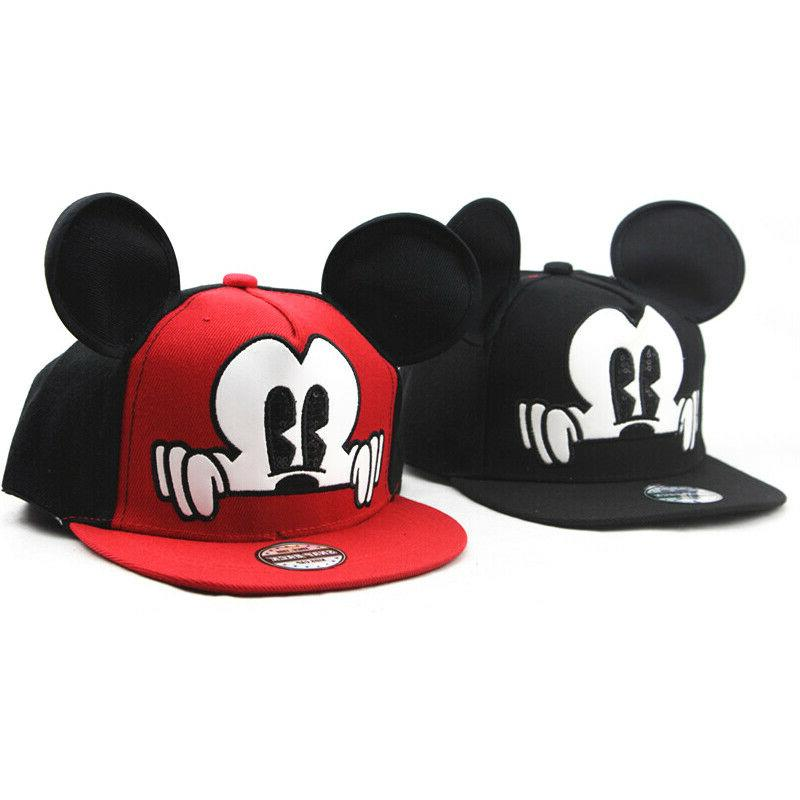 Kids Boys Mickey Minnie Bucket Hat Caps Hip Hop Sun