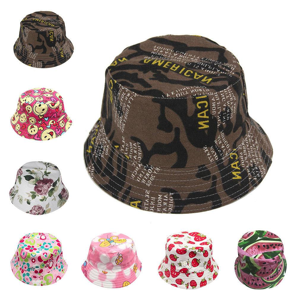 Kids Bucket Hat Cap Baby Summer Hats Boy Girls Sun Hats Canv