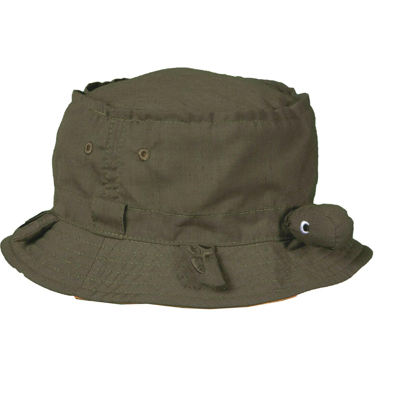 kids cotton blend olive turtle bucket hat