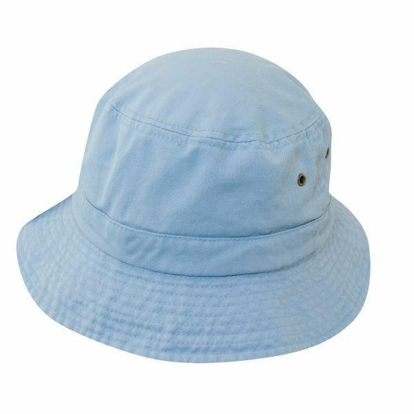 kids light blue cotton bucket hat size