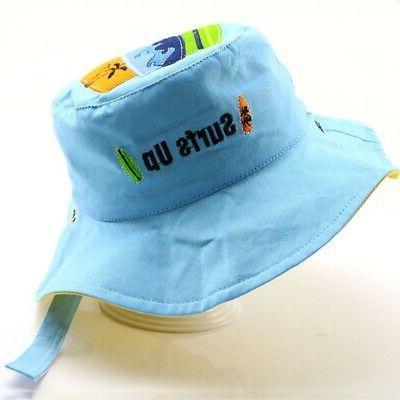 Kids Bucket Hats Boys Girls Reversible Sun US