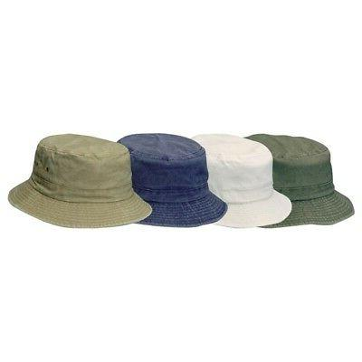 Dorfman Pacific Kids Twill Bucket Hat Assorted