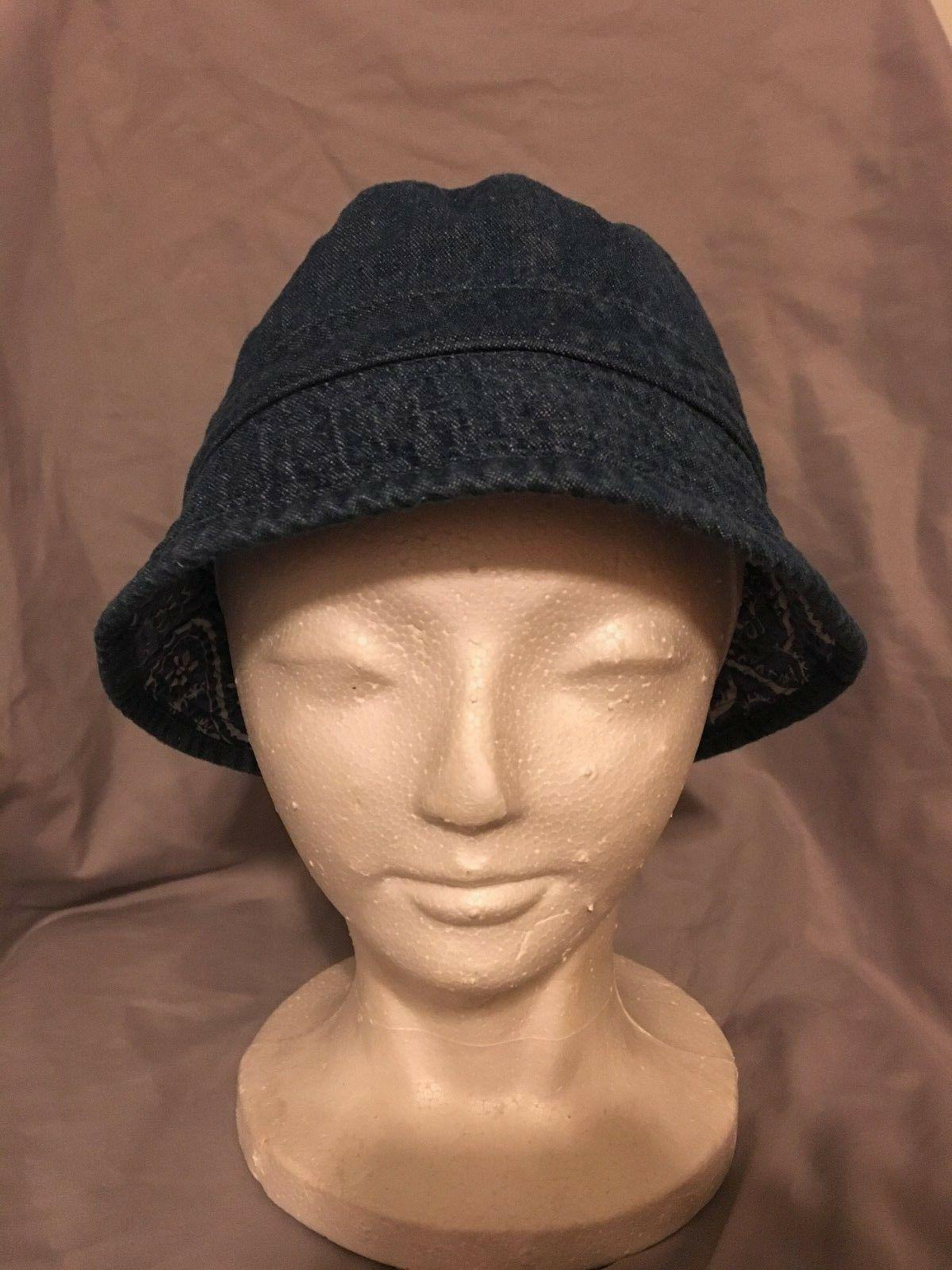 kids twill reversible bucket hat nwt navy