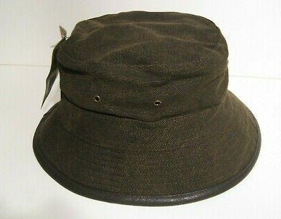 lined canvas bucket hat color dark brown