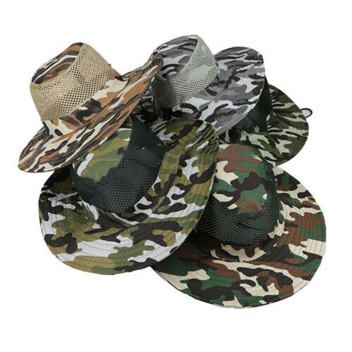 Men Bucket Hunting Outdoor Brim Caps