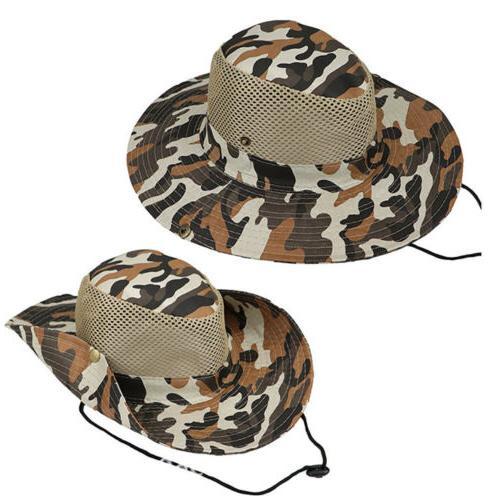 Men Bucket Hats Hunting Wide Brim Safari Caps