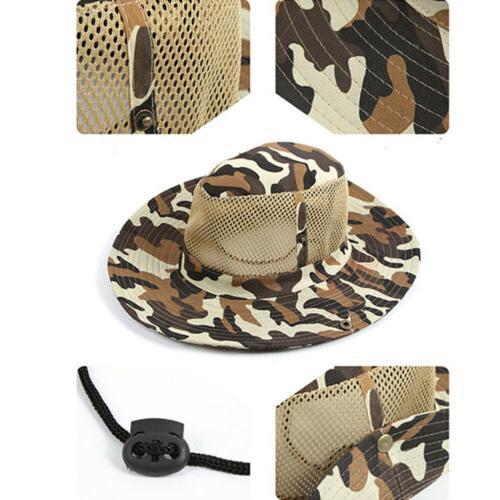 Men Bucket Hats Hunting Fishing Brim Safari Caps