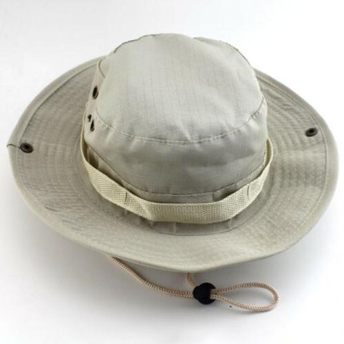 Men Boonie Military Camo Wide Brim Hiking Cap