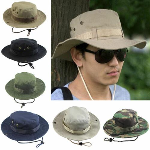 men tactical boonie hat military camo bucket