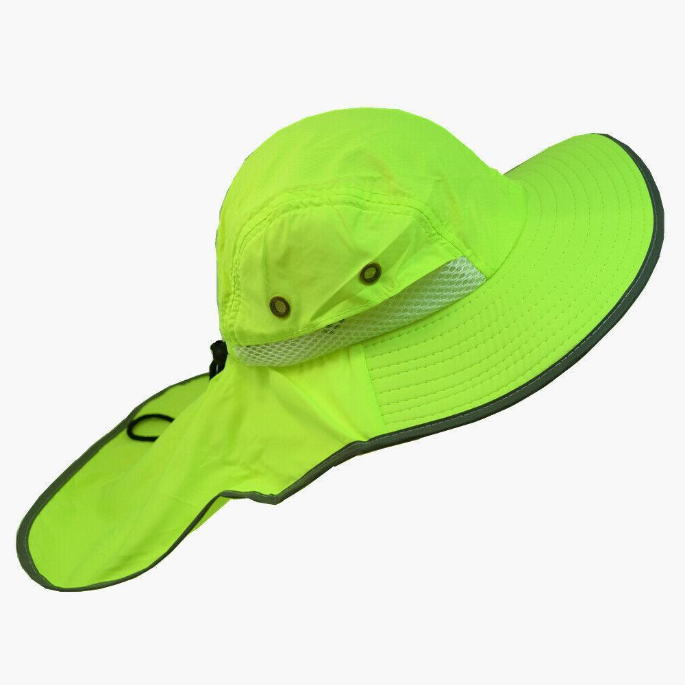 Men Neck Flap High Waterproof Bucket Cap