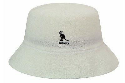 Kangol Men's Bermuda White Bucket Cap Hat Sz: L