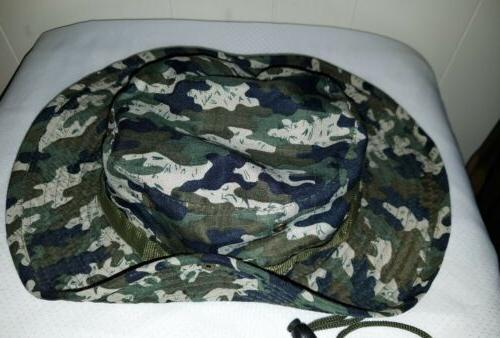 Men's Jungle Hunting Fishing Outdoor Camo Boonie LG