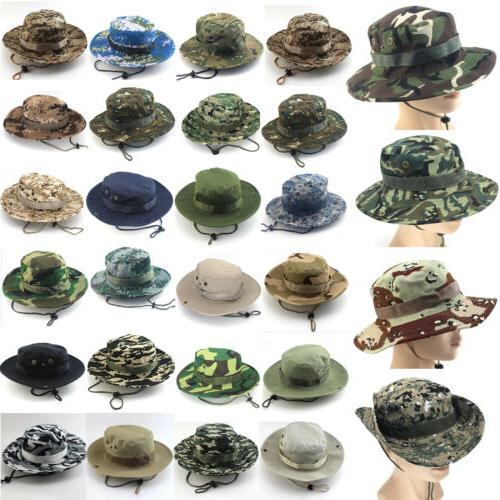 Mens Bucket Hat Hunting Fishing Boonie Cap Brim Visor Sun Sa