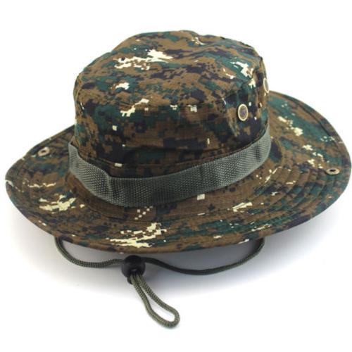 Men Military Bucket Hat Bush Camp Wide Cap