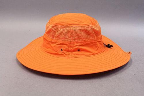 Home Prefer Mesh Wide Brim Bucket Hat Orange Size