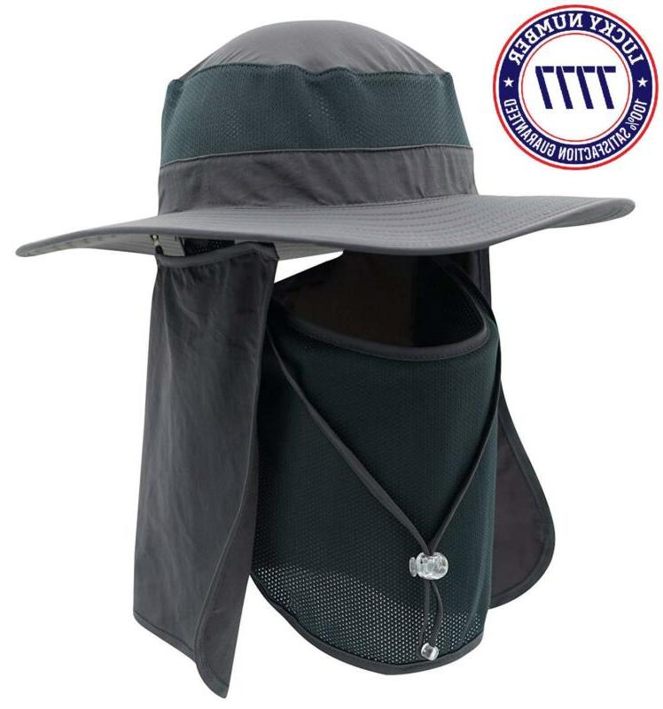Home Hat Bucket Hat Detachable Neck Hat H