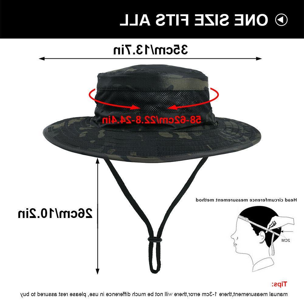Men's Boonie Hats Sun Hiking Outdoor Cap