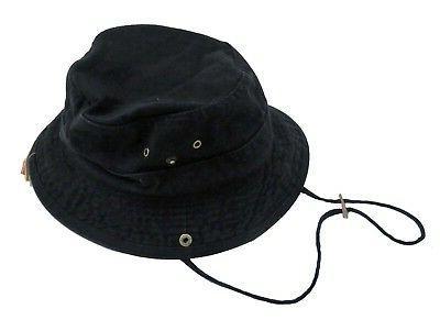 men s twill black bucket hat