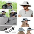 Men's Wide Brim Sun Hat Waterproof Protection Bucket Boonie