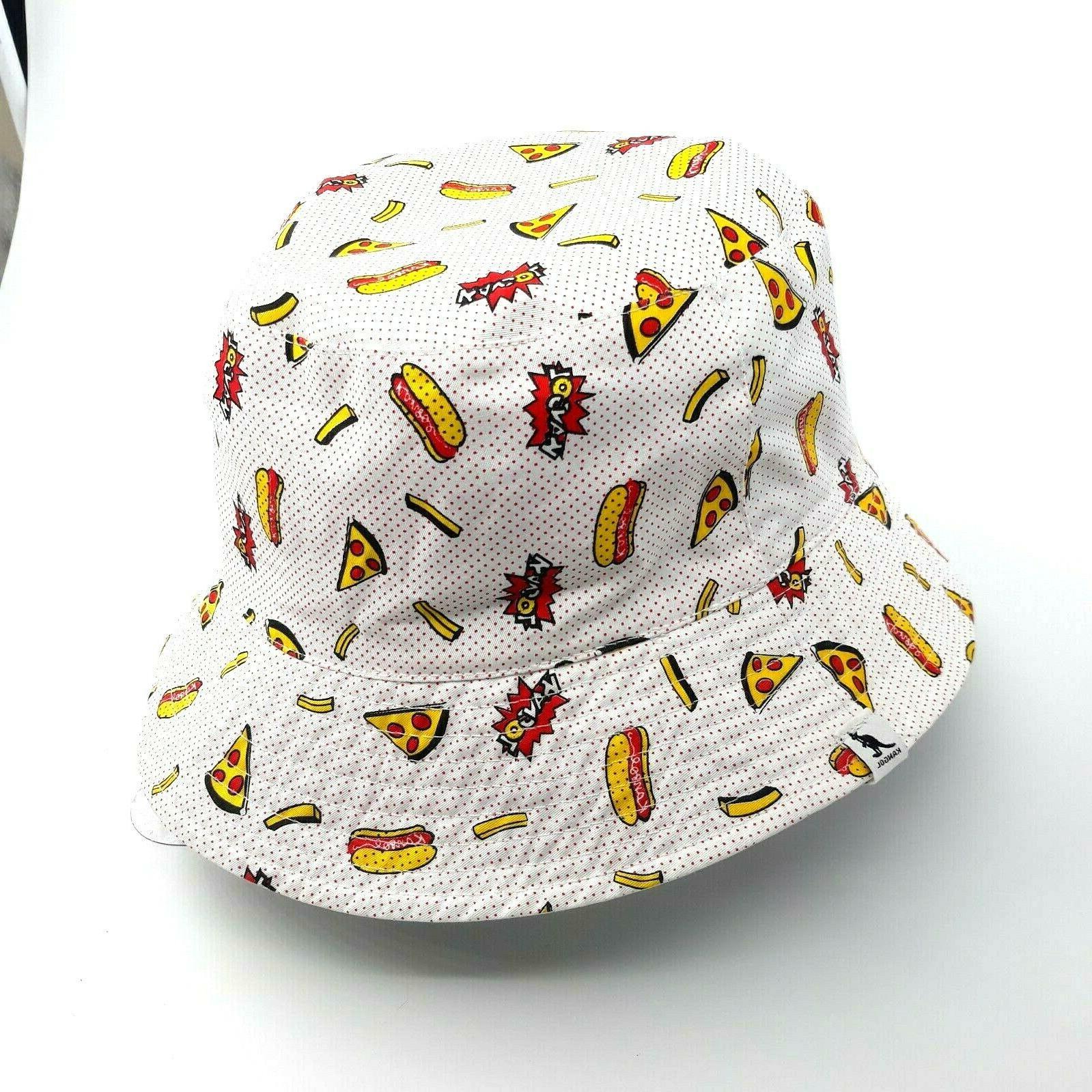 Black KANGOL Food Bucket Reversible Hat