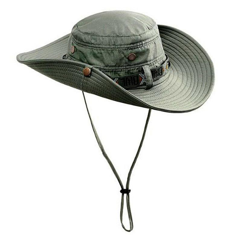 Summer Anti-UV Sun Protect Bucket Boonie Hat Tactical Wide B