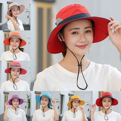 Summer Women Bucket Safari Outdoor Cap