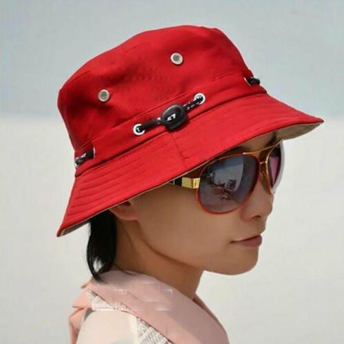 Men Women Bucket Panama Bucket Hats Plain Hip Fishing Outdoor Hat