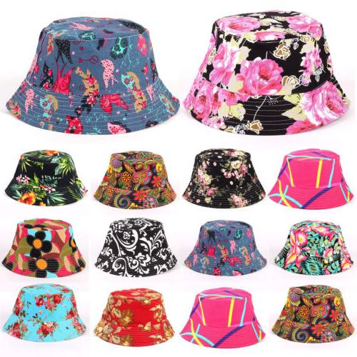 Womens Floral Bucket Hat Hiking Camping Boonie Summer Outdoo