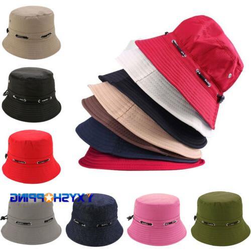 Unisex Bucket Hat Cap Cotton Boonie Brim Visor Sun Safari Su