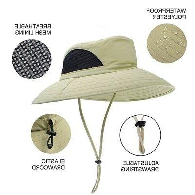 Unisex Summer Boonie Hat Wide Sun Outdoor Hat