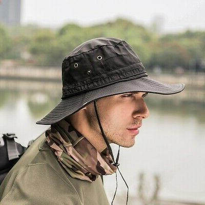 Men Boonie Fishing Brim Safari Outdoor Sports Sun Cap