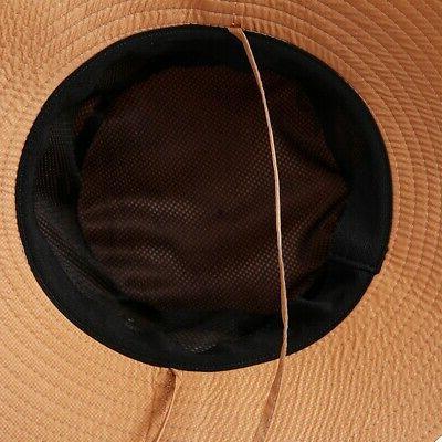 1xUnisex Hunting Fishing Brim Safari Sun Cap