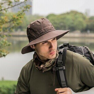 Men Women Bucket Boonie Fishing Wide Safari Outdoor Sports Cap