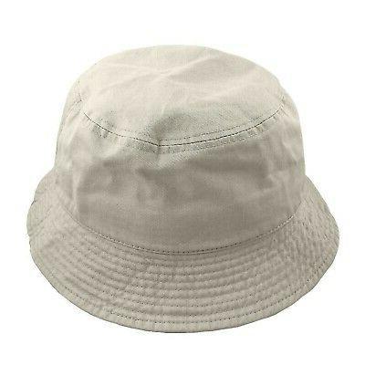 men women unisex cotton bucket hat putty